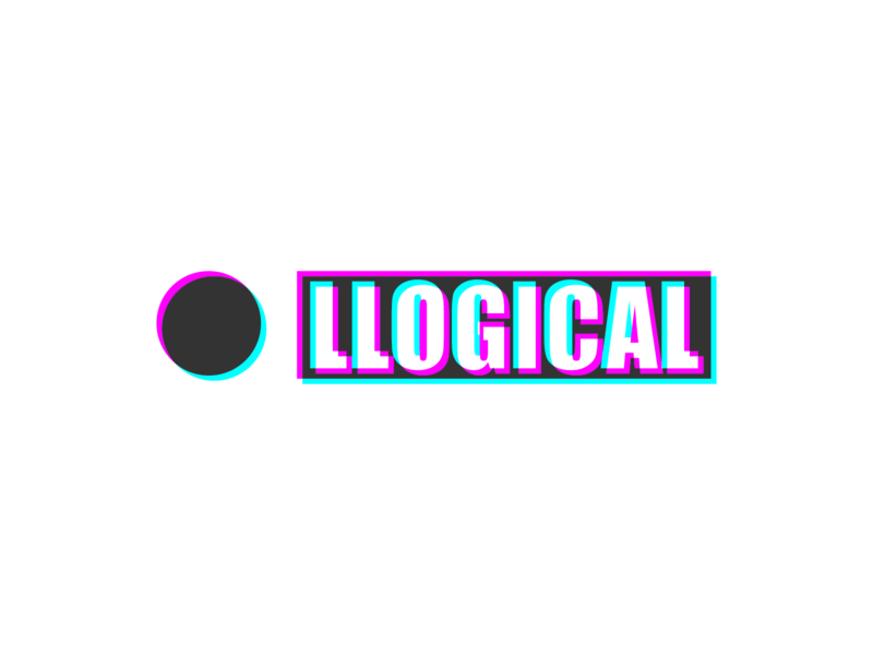Illogical neon glitch illogical logic logo design 36daysoftype type typography bright color vector illustration