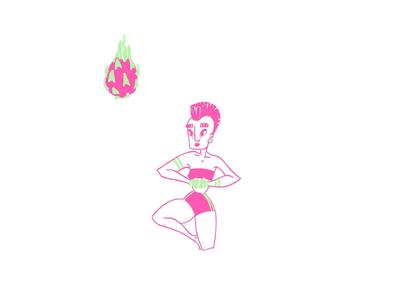 Badass dragon fruit digital illustration dragon dragonfruit