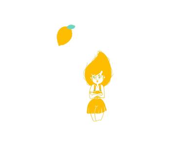 Miss Sour Lemon sour lemon yellow bright color illustration