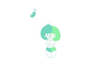 Two peas in a pod cute color illustration love pod pea
