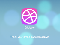 Dribbble Thank you for the invite