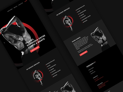 P20 Website | Ipad adobexd workout responsive darkui red pilates personaltrainer fitness gym webdesign website web uxui ux ui design