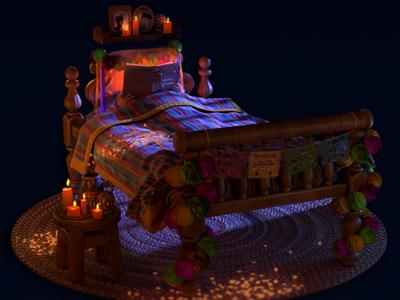 Dia De Los Muertos nuke color design diadelosmuertos render halloween cinema4d vray maya 3d art illustration