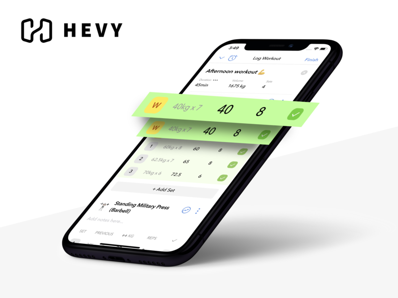 Hevy - Workout Tracker & Planner for Weight Lifting design ios mobile design mobile ui mobile debut screenshot augmented app branding ui