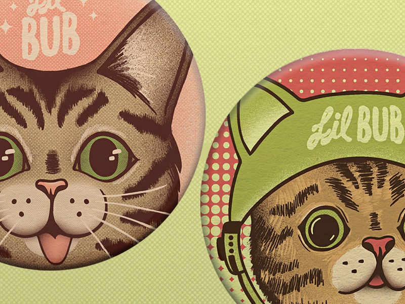 Lil Bub Popsockets character animal texture popsocket design illustration cat limited color