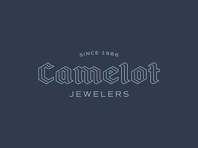 Camelot Logo vector custom logotype logotype tone on tone monoline custom lettering blackletter camelot