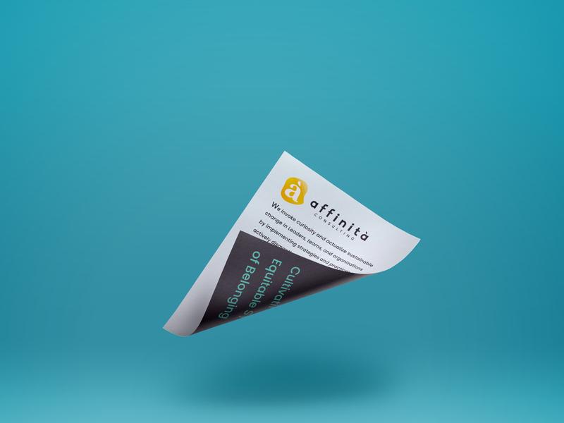 Affinità Consulting Brand mockup branding agency design logo branding