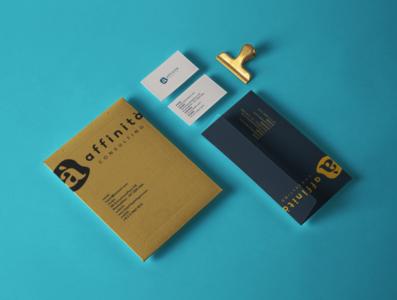 Affinità Consulting Brand folder print paper branding agency nashville brand logo design branding