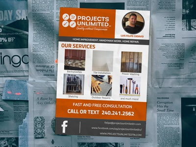 Projects Unlimited Flyer