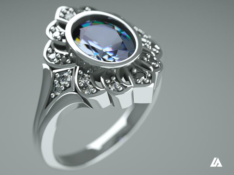 Jewellery photorealistic rendering diamonds rendered photorealism jewellery