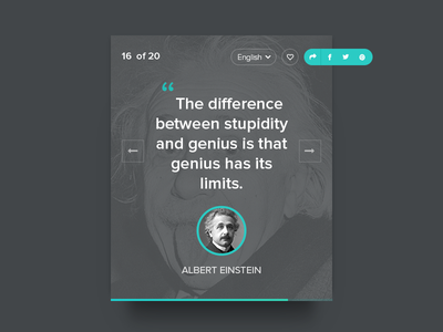 Author Quotes Ui ui ux widget poster social author like translate love numbers share quotes
