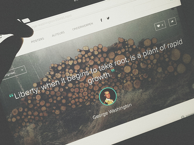 Single Quote Page ui ux search translate clean love author like typography share unsplash.com quotes