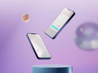 Appointment Comp v2 3d app design app android ios design blender telemedicine interface mobile ux ui