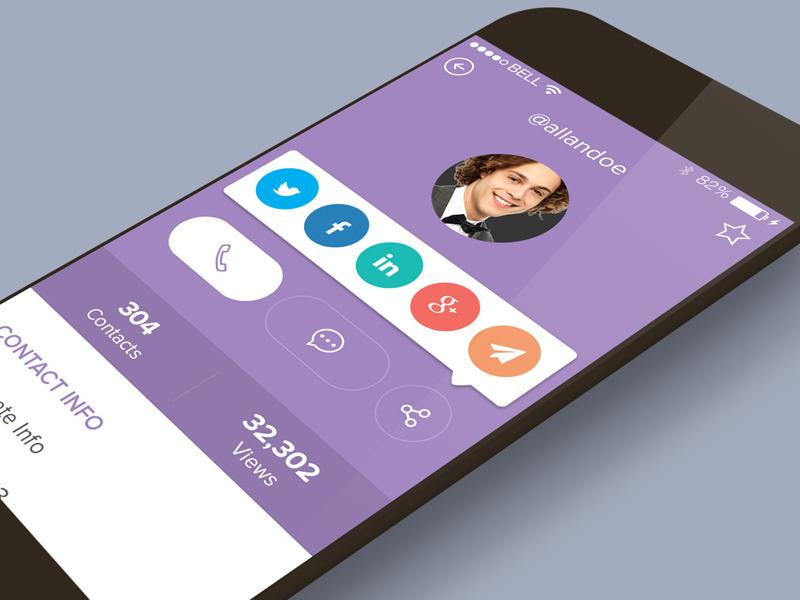 Profile Screen ui ux mobile share