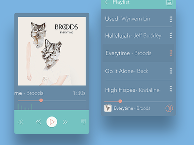 Simple Player colors player ui ux mobile design experiment music