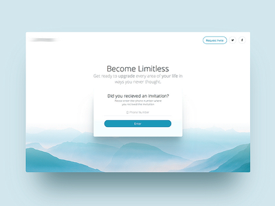 Claim and Invite Page landing design ux ui