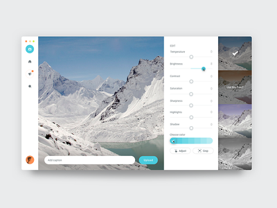 Edit Image   Instagram Inspired design ux ui
