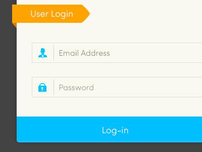 Simple Login Form (PSD Included) clean modern template ui web web design website login form simple login form