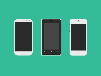 Mobile Flagships with PSD psd flat mobile nokia samsung apple iphone 5 lumia android bluroon freebie green phone gray flagships icon design free graphic design graphic interface ui illustration vector icons mockup s4 iphone 5s s3