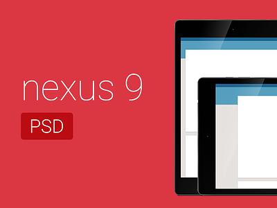 Free Nexus 9 PSD nexus google tablet android material free psd photoshop