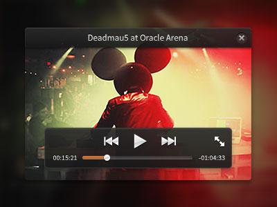 Switchcam Mini Player interface button concert time fullscreen rebound player play controls mini deadmau5 ui video