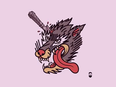 Wolf dies
