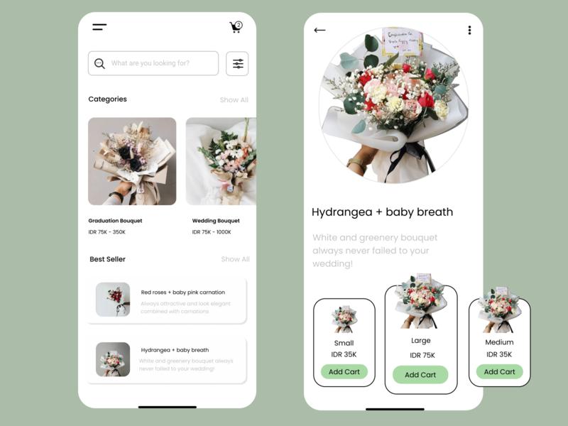 Florist App design app ui bouquets florist app florist logo flower bouquet
