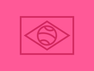 Brazilian Dribbble ilustração minimalis logotipe brand icon dribbble brazil