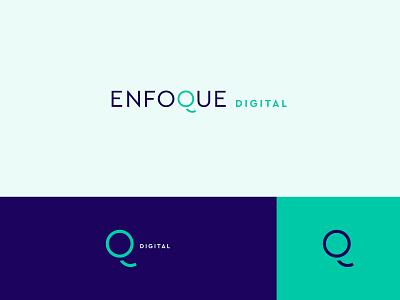Enfoque Digital - Logo Design bright colors color palette colors modernism modern identity mark entrepreneur marketing socialmedia digital logodesign branding design logotype branding designer design