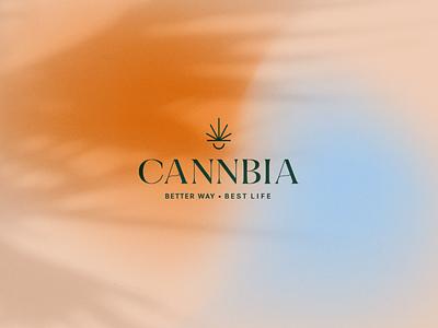 Cannbia Logotipo brand identity design weed seed branding esthetic cosmetics cbd cannabis cannbia