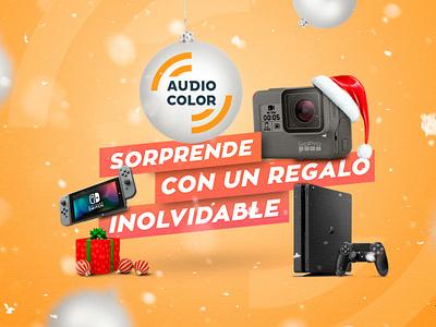 Audiocolor Navidad - Campaña marketing agency marketing campaign socialmediamarketing marketing publicidad typography illustration design campaña videojuegos merrychristmas navidad
