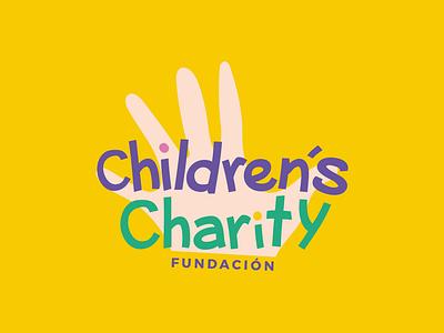 Logotype Children´s Charity foundation illustration design typography logo branding