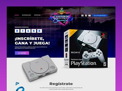 One page Video Juegos Barranquilla design uiuxdesigner uiuxdesign onepage web game