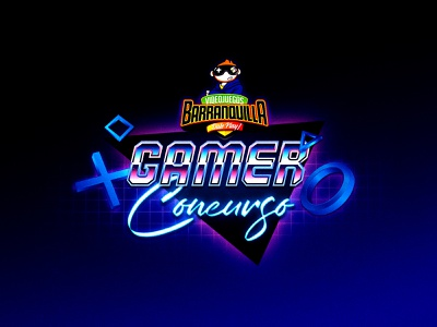 Background/Competition gamers typografy designer competition gamer background design