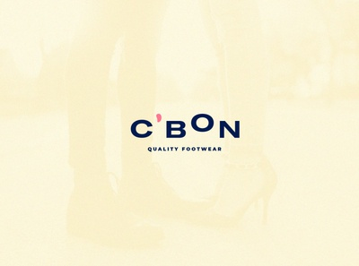C'bon Quality Footwear logo typography freelance designer branding design branding shoes footwear
