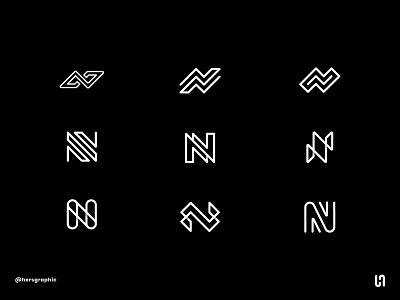 Letter Exploration N freelance logo logotype typogaphy design designer brand design simbol monogram letter california