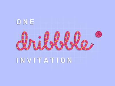 One Dribbble Invitation