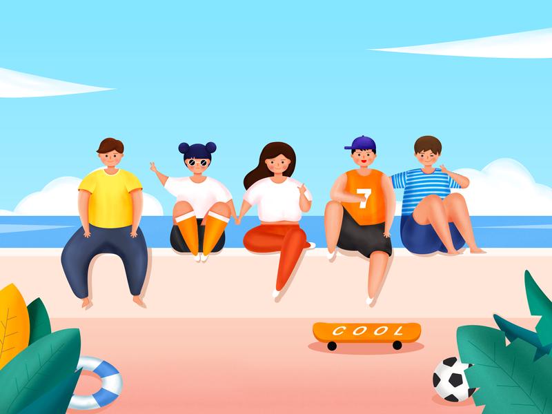 Summer youth ui ps 插图 设计 品牌