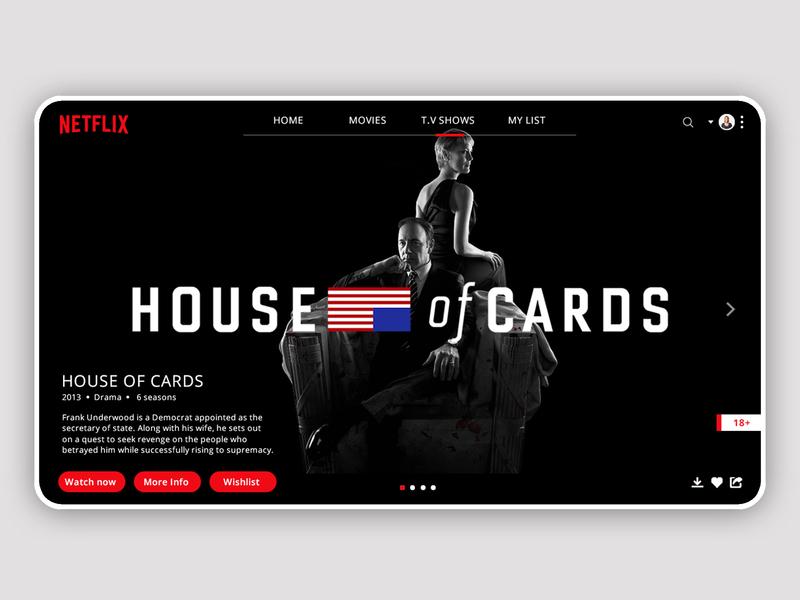 Netflix  Landing Page 2d flat branding web illustrator adobe xd typography website app ui ux design