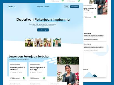 Nata Jobs - Landing Page web design recruitment landing page jobs