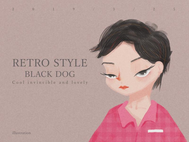 Retro style design ui retro style illustration