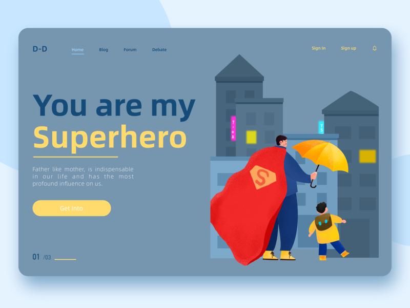 My Superhero ui illustration design
