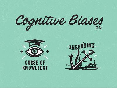Cognitive biases 2 mystic eye underwater curse anchor illustration advertising