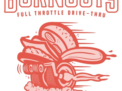 Burnout's design cheeseburger ed roth cars burger type branding typography illustration lettering
