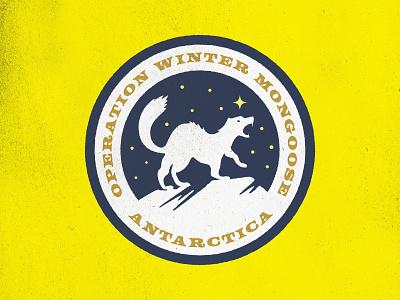 Winter Mongoose the thing badge design badge design branding tour of terror illustration