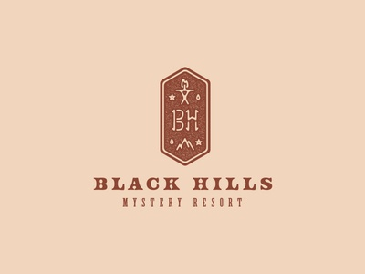 Black Hills tour of terror type vector logo design branding