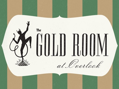 The Gold Room mark branding logo design lettering type typography illustration tour of terror