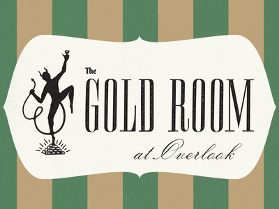 The Gold Room mark branding logo design lettering type typography illustration tour of terror