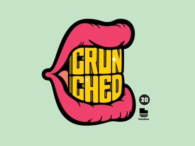 Diagnosis: Crunch Mouth type mark logo design capn crunch yuck mouth breath mouth hand lettered typography hand lettering lettering illustration