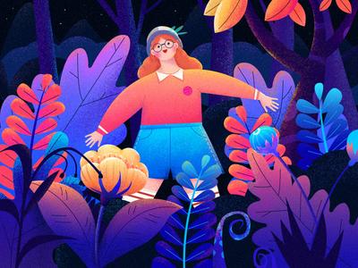 My colorful dream trip trip dream flower travel landscape adventure colour illustration
